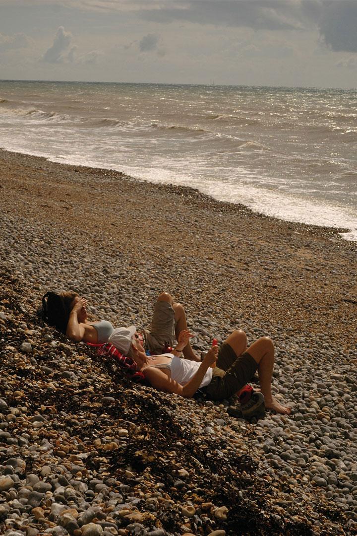 이곳에 오면 누구든 저렇게 해변에 드러눕게 된다